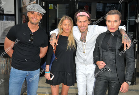 Fabrizio Santino, guest, Marco Pierre White Junior and Rodrigo Alves