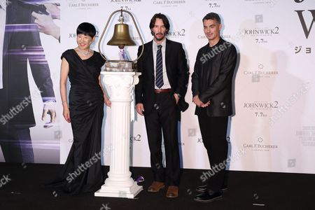 Stock Picture of Akiko Wada, Keanu Reeves, Chad Stahelski