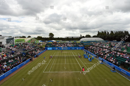 General view of centre court during the match between Johanna Konta of Great Britain and Tara Moore of Great Britain