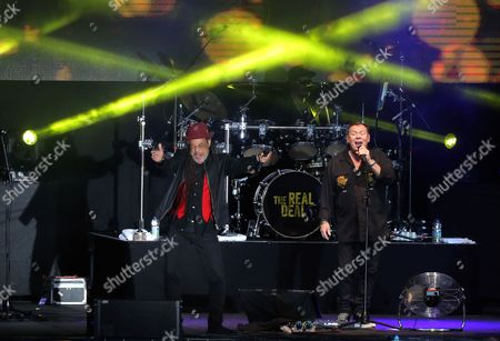 Terence Wilson and Ali Campbell of UB40 on stage