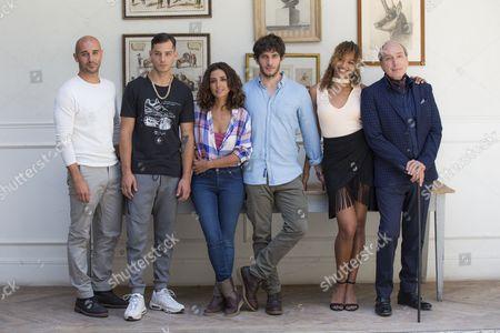 Stock Image of Alain Hernandez, Joel Bosqued, Inma Cuesta, Quim Gutierrez, Berta Vazquez and Eusebio Poncela