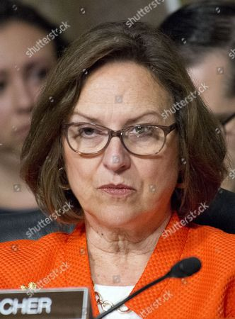 United States Senator Deb Fischer (Republican of Nebraska) listens as US Secretary of Defense James Mattis and General Joseph F. Dunford, Jr., US Marine Corps, Chairman of the Joint Chiefs of Staff, give testimony before the US Senate Committee on Armed Services