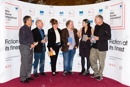 Stock Picture of Nicholas de Lange, David Grossman, Dorthe Nors, Mathias Enard, Samanta Schweblin and Roy Jacobsen