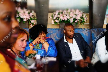 South African Ambassador Zindzi Mandela and guest