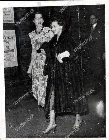 Editorial image of A Recent Picture Of Princess Margaret And Colin Tennant (not In Picture) Son Of Lord And Lady Glenconner Subjects Of Fresh Engagements Reports And Her Lady-in-waiting Miss Judy Montagu (l) Walking To The Stage Door Of The Scala Theatre To Attend A Re