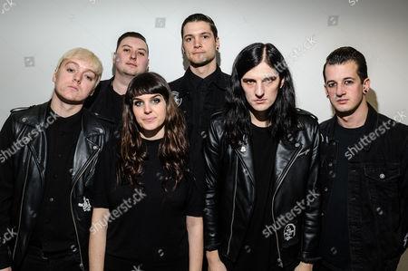 Creepers at HMV - Will Gould, Hannah Greenwood, Oliver Burdett, Dan Bratton, Ian Miles, Sean Scott