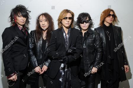 Stock Photo of Japan at HMV - David Sylvian, Steve Jansen, Richard Barbieri, Mick Karn, Rob Dean