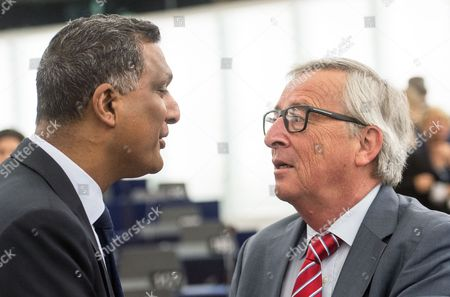 Syed Kamall and Jean-Claude Juncker
