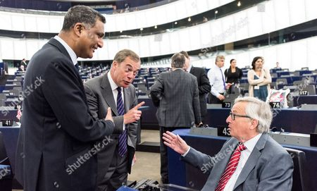 Jean-Claude Juncker, Syed Kamall and Nigel Farage