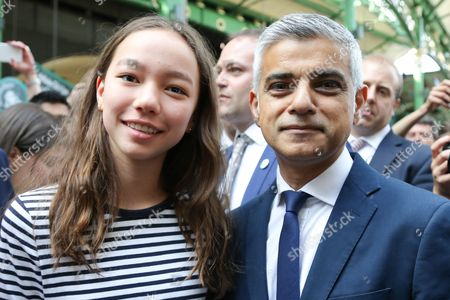 Chloe Murdoch with Sadiq Khan, Mayor of London.