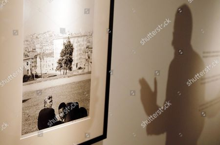 A view of one of works by US photographer Robert Frank displayed as part an exhibition 'Robert Frank. Case Study' at IVAM Museum in Valencia, Spain, 14 June 2017. The exhibition, running from 15 June to 15 October, features 18 photos.