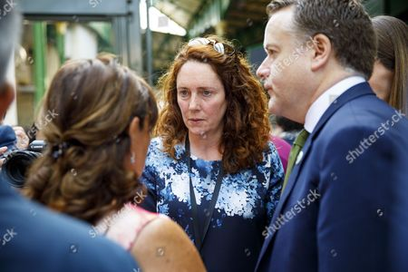 Stock Image of CEO of News Corp UK Rebekah Brooks attends the reopening of Borough Market in London