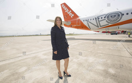 EasyJet CEO Carolyn McCall, EasyJet takes delivery of its first LEAP powered Airbus A320 NEO its 300th plane