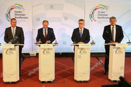 Boris Pistorius, Markus Ulbig, Thomas de Maiziere, Lorenz Caffier