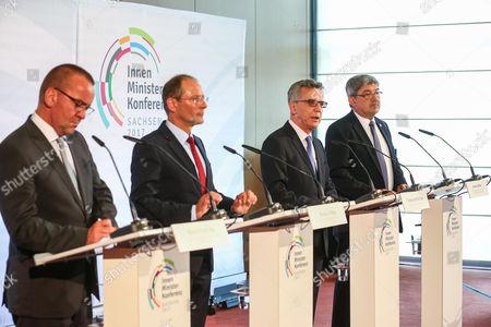 Editorial photo of German Interiors Minister meeting, Dresden, Germany - 14 Jun 2017
