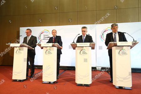 Stock Picture of Boris Pistorius, Markus Ulbig, Thomas de Maiziere, Lorenz Caffier