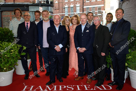 Stock Photo of cast - Will Smith, director Joel Hopkins, Jason Watkins, Phil Davis, Rosalind Ayres, Hugh Skinner, Peter Singh, Deborah Findlay, Rob Festinger