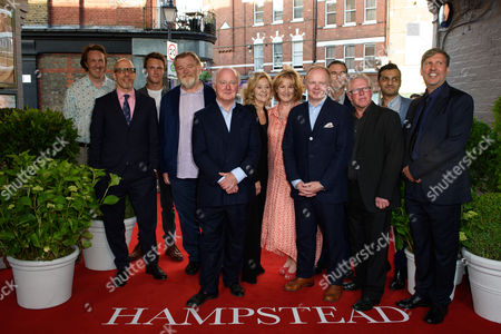 Stock Image of cast - Will Smith, director Joel Hopkins, Jason Watkins, Phil Davis, Rosalind Ayres, Hugh Skinner, Peter Singh, Deborah Findlay, Rob Festinger