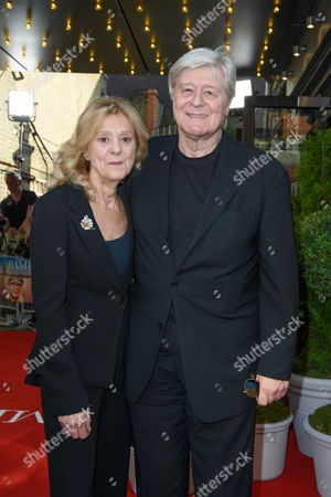 Rosalind Ayres with her husband Martin Jarvis