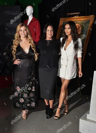 Sasha Pieterse, Marlene King and Shay Mitchell