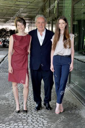 Stock Picture of Verdiana Costanzo, Sara Rosati, Michele Santoro