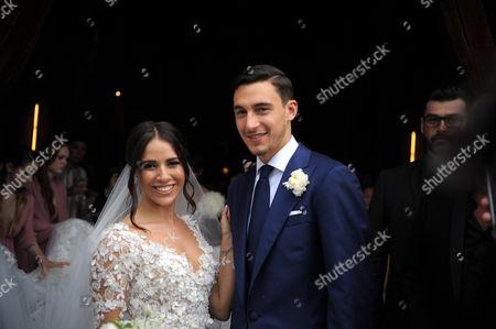 Matteo Darmian and Francesca Cormanni