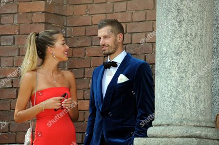 Editorial picture of Matteo Darmian and Francesca Cormanni wedding, Rescaldina, Italy - 14 Jun 2017