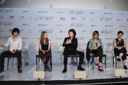 Enrique Arrizon, Emma Suarez, Joanna Larequi, Michel Franco and Ana Valeria Becerril