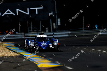 36 SIGNATECH ALPINE MATMUT, ALPINE A470 - GIBSON, Romain DUMAS FRA, Gustavo MENEZES USA, Matthew RAO GBR during the 24 Hours of Le Mans 2017 free practice session and qualifying 1 stage at Le Mans, Pays de la Loire
