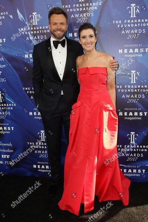 Joel McHale and Elizabeth Musmanno (President; Fragrance Foundation)