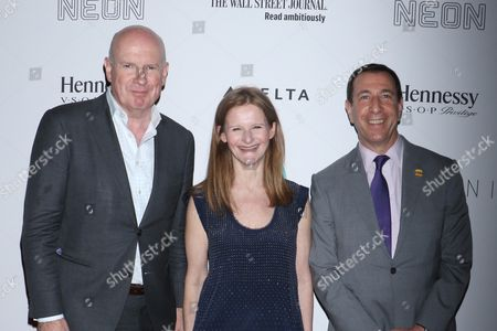 Gerard Baker, Dow Jones Managing Editor, and the Wall Street Journal Editor-in-Chief, Katy Clark, BAM President and Adam E. Max, Chairman of BAM's board