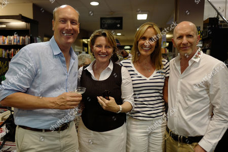 Stock Photo of James Palmer Tomlinson, Sarah Tomlinson, Santa Montefiore, Simon Sebag Montefiore