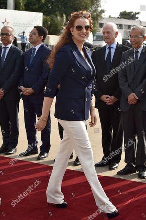 Princess Lalla Salma of Morocco at Rabat airport