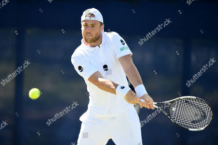 Illya Marchenko of Ukraine during his quarter final round doubles match on day 4 of the Aegon Open