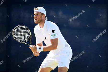 Illya Marchenko Romania during his quarter final round doubles match on day 6 of the Aegon Open