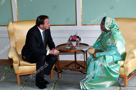 Stefan Lofven and Sheikh Hasina Wajed