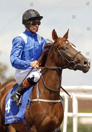 ANFAAS (Timmy Murphy) winner of The Dubai International Arabian Races Newbury
