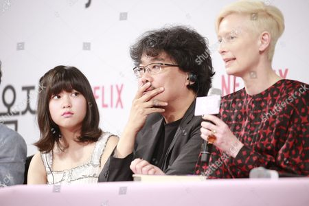 Stock Picture of Seo-Hyeon Ahn, Bong Joon-Ho, Tilda Swinton