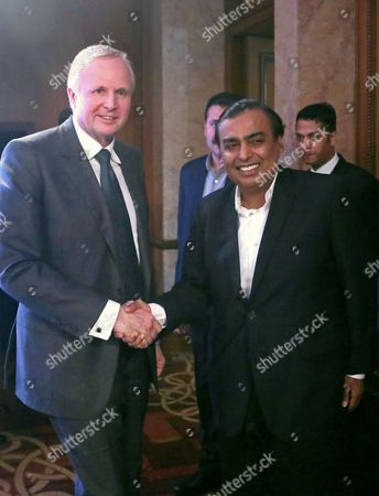 Mukesh Ambani and Bob Dudley