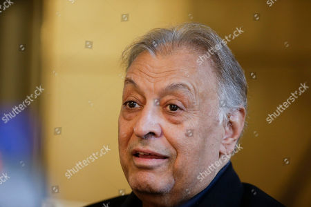 Conductor Zubin Mehta holds a press conference to present the opera Die Entfuehrung aus dem Serail at the Teatro alla Scala theatre in Milan, Italy