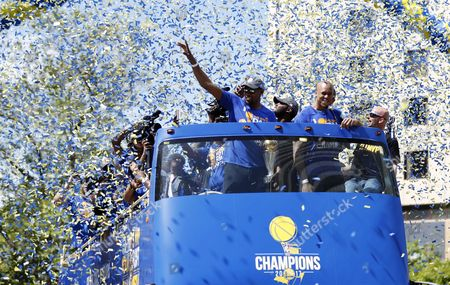 Editorial picture of Golden State Warriors Championship Parade, Oakland, USA - 15 Jun 2017