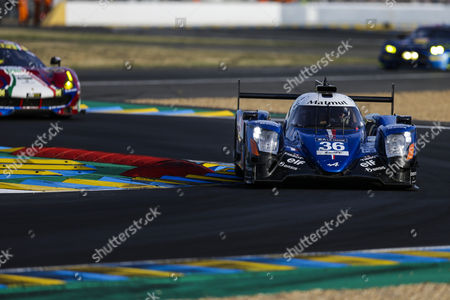 36 SIGNATECH ALPINE MATMUT, ALPINE A470 - GIBSON, Romain Dumas FRA, Gustavo MENEZES USA, Matthew RAO GBR during the 24 Hours of Le Mans 2017 qualifying 2 and qualifying 3 at Le Mans, Le Mans