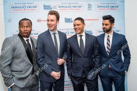 Roy Wood Jr.., Jordan Klepper, Trevor Noah and Hasan Minaj