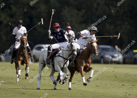 Stock Picture of Henry Porter and Maharaja Padmanabh Singh of Jaipur (2nd right) playing during the Maserati Royal Charity Polo Trophy 2017