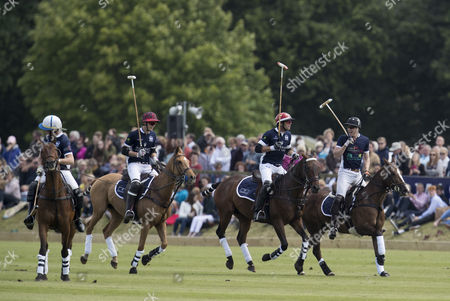 (R to L) Prince William, Malcolm Borwick and Henry Porter playing during the Maserati Royal Charity Polo Trophy 2017
