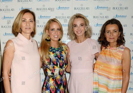 Stock Picture of Maria Cristina Buccellati, Carolina Bonfiglio, Princess Corinna zu Sayn Wittgenstein and Isabel Falkenberg