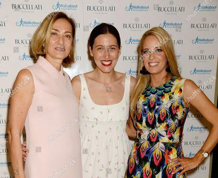 Stock Image of Maria Cristina Buccellati, Emilia Wickstead and Carolina Bonfiglio