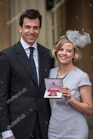 Suzanne Wolff, who received an OBE, and her husband Toto Wolff