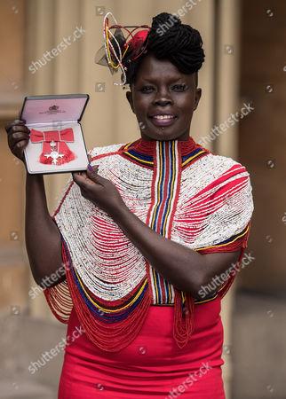 Stock Image of Akuja De Garang with her MBE