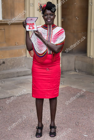 Stock Photo of Akuja De Garang with her MBE